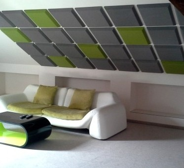Panele Dzwiękochłonne 50x50 Szare Zielone